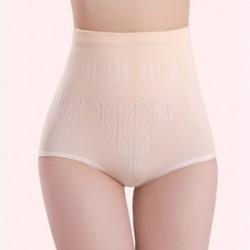 Bőr Női magas derék rövidnadrág Shapewear nadrágos Body Shaper vezérlés Slim hasi fehérnemű