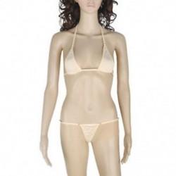 Bőrszín Szexi női fehérnemű Micro Thong fehérnemű G-String Bra Bikini fürdőruha készlet