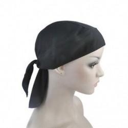 Fekete Felszerelt kötött férfiak női tiszta szín kalap motoros motorkerékpár Bandana fej borítás legújabb