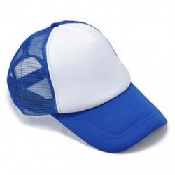 Fehér kék Unisex üres sima hátsó sapka Férfi hip-hop állítható baseball sport sapka Új