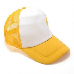 Fehér / sárga Unisex üres sima hátsó sapka Férfi hip-hop állítható baseball sport sapka Új