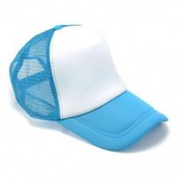 Fehér / világoskék Unisex üres sima hátsó sapka Férfi hip-hop állítható baseball sport sapka Új
