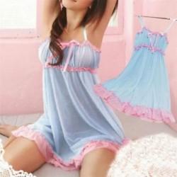 Kék Új szexi női csipke fehérnemű Sleepwear Nightwear   G-string Babydoll Nightdress