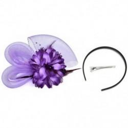 Lila Női Fascinator Feather Esküvői Party Pillbox Hat divat fejpánt Clip fátyol