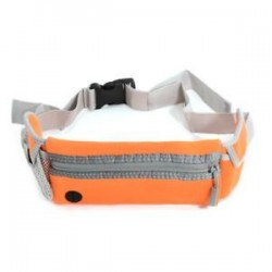 narancs Vízálló sport futó derékpántos táska, futó övtáska Zip Fanny Pack