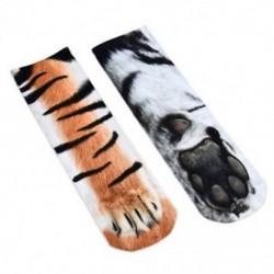 Tigris Divat-állat mancs-személyzet zokni Női férfiak Unisex pamut zokni Vicces nyomtatott zokni
