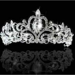 Elegáns női esküvői menyasszonyi hercegnő kristály haj Tiara korona tartozék ONE JP