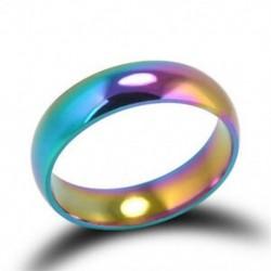 10 Hematit titán acél színes szivárvány gyűrűk eljegyzési esküvői ékszer ajándék