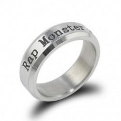 Ezüst színű RAP MONSTER gyűrű - 1994. 09. 12. - KPOP - BTS - Bangtan Boys