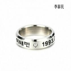 Taemin KPOP STAINLESS STEEL SHINEE ON MIN MIN TAEMIN KEY JONG HYUN KPOP RING JEWELRY