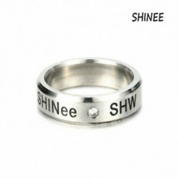 SHINee KPOP STAINLESS STEEL SHINEE ON MIN MIN TAEMIN KEY JONG HYUN KPOP RING JEWELRY