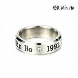 Min Ho KPOP STAINLESS STEEL SHINEE ON MIN MIN TAEMIN KEY JONG HYUN KPOP RING JEWELRY
