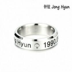 Jong Hyun KPOP STAINLESS STEEL SHINEE ON MIN MIN TAEMIN KEY JONG HYUN KPOP RING JEWELRY
