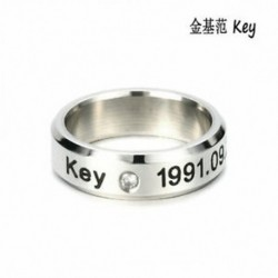 Kulcs KPOP STAINLESS STEEL SHINEE ON MIN MIN TAEMIN KEY JONG HYUN KPOP RING JEWELRY