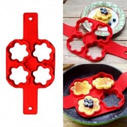 Sütőeszközök Szilikon négy lyukú szirom gofrihoz Palacsinta omlett gofri H8O8