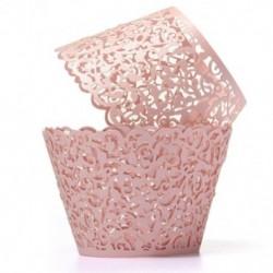 12db Rózsaszín - Szőlőtőke mintás muffin papír szülinapra - esküvőre - évfordulóra - különleges alkalmakra - G7R4