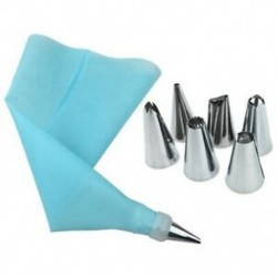 Kék habzsák 6db cserélhető fejjel - Sütemény formázó - Sütemény töltő szett - L3P9