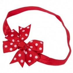 2X (Red Baby Bowknot Fehér Pöttyös Fejpántos Hajpánt N1O2)