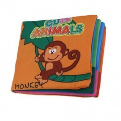 Puha szövet Baba gyermekek intelligencia fejlesztése Squeaky Picture Cloth Bo D8Y9