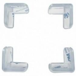 1X (4 darabos átlátszó, biztonságos, puha műanyag asztali sarokvédő védő O2X8)