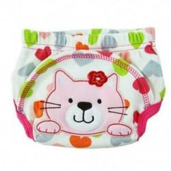 Rétegtanuló bugyi mosható pamut vízálló macska mintából a p I5A8 baba számára