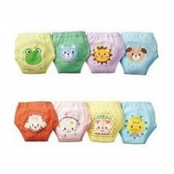 6-12M-ig - 4x kisgyermek lányok aranyos 4 rétegű, vízálló, potty edzőnadrágok, újrafelhasználható BTU