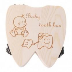 2X (Baby Tooth Box fa tejfogak szervezőjének tárolására szolgáló lányok megtakarítják a szuvenírt C F1V8