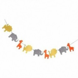 4X (Aranyos filccsalád koszorú oroszlán elefánt zsiráf díszítés a gyermeknekBBT7
