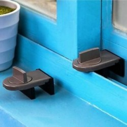 2X (állítható ajtóablak-záró dugó, gumi borítású, a Slidin L0T0 számára)