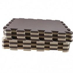 1X (10 darabos Eva hab puzzle edzőszőnyeg egymásba illeszkedő padlólapok barna   bei Q9P1