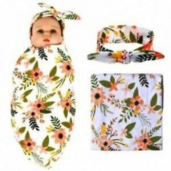 2X (Újszülött kapaszkodó takaró fejpántkészlet virágmintás Baby Swaddle Receivi G2H3