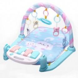 Babajáték szőnyeg Baba tornaterem játékok 0-12 hónapos lágy világítás csörgők zenei játékok Y7P1