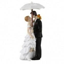 3 szett Esküvői pár napernyővel tortadísz esküvőre - évfordulóra - Különleges alkalmakra - W3I4