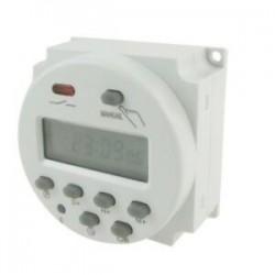 1X (DC 12V-os digitális LCD tápellátás programozható időzítő időkapcsoló-relé 16A erősítő Z7A8)