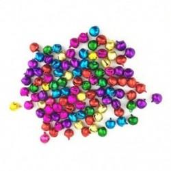 1X (50PCS véletlenszerű színes kézműves készletek és kellékek karácsonyi Jingle Bells / Small O5W7