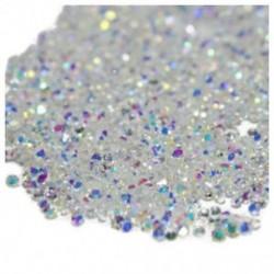 1440Pcs-es Micro Diamond DIY köröm strasszos kristály lapos hátú nem Hotfix R S3N0
