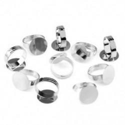 10 ezüst tónusú, ragasztható, állítható gyűrűs alaplap, 16 mm-es HOT S6B7