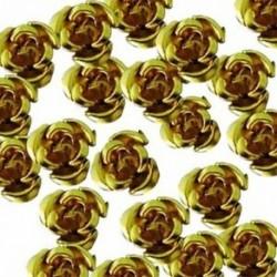 50 db 8 mm-es alumínium gyöngyök alumínium rózsa gyöngyök - arany F1P8