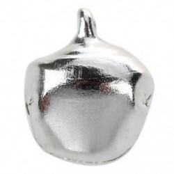 20 db karácsonyi jingle csengő 10 mm-es ezüst tónusú X1K6