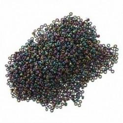 1200db 2 mm-es fém-lila kerek cseh üvegmagos távtartó laza gyöngyök Jewel D8M8