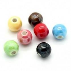 50db ékszer-kiegészítők 50 Vegyes kerámia gyöngyök, kerek, 6 mm átmérőjű. D6Q1