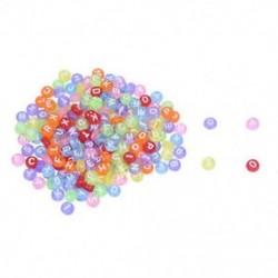 1X (200 X kerek gyöngy ábécé levél műanyag többszínű 7 mm G3Z5)
