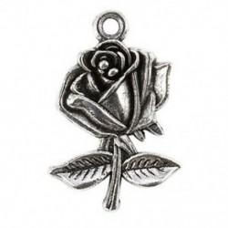 10 darabos antik ezüst ötvözet medál - Rose - A0879 X7R8