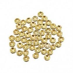 1X (50 darab aranygyöngy arany gyöngy 6mm strasszokkal O2Z7)