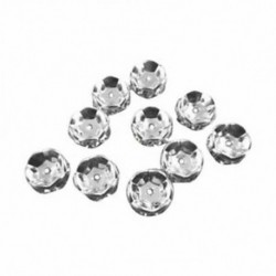 H1Z9 Gold 50 Pcs DIY Bail Pin Pearl Gemstone Cap plate Jewelry Connector