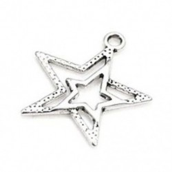 1X (csomag 20 x antik ezüst tibeti 23 mm-es medálokkal (csillag) - (ZX0 J1U6