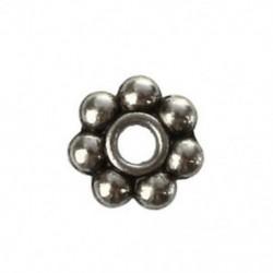 200 x 4 mm tibeti ezüst százszorszép spacer gyöngyök Charms Beads M6O1