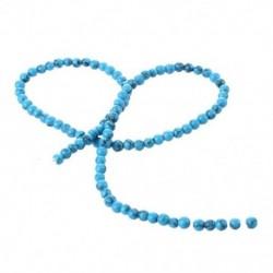 1X (1 x szálú gyöngyök kő türkiz drágakő 4 mm-es drágakövek H4T4)
