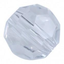 100 átlátszó kristálykvarc, sokoldalú, kerek gyöngyök, 6 mm C4U7