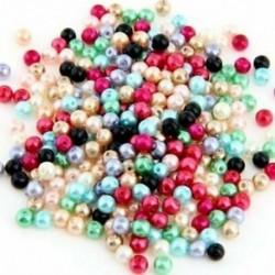2X Lot 500 többszínű, kerek üveg, gyöngyház, 4mm HOT D1N1
